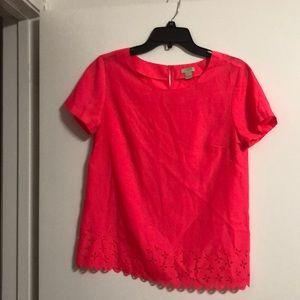 Jcrew hot pink shirt